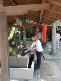Water purification prior to entering shrines