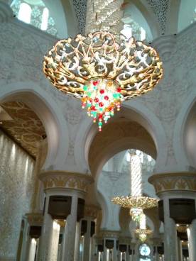 Stunning Chandeliers can be seen everywhere.