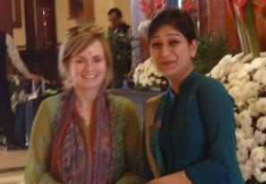 At Eros Hotel with Ekta