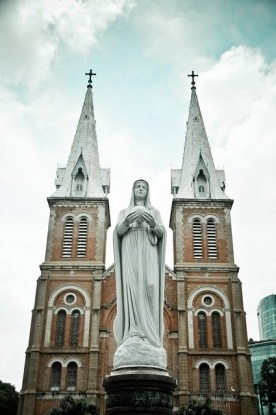 Notre Dame Catholic Cathedral in Ho Chi Mihn City, Vietnam